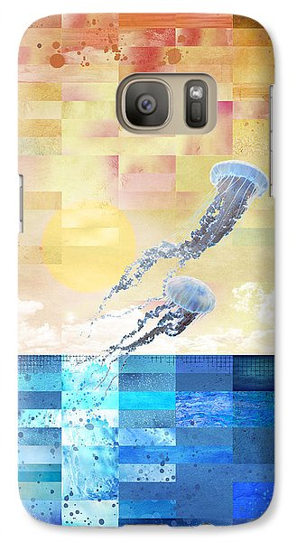 Galaxy Case featuring the digital art Psychotropic Rhythms by Christina Lihani