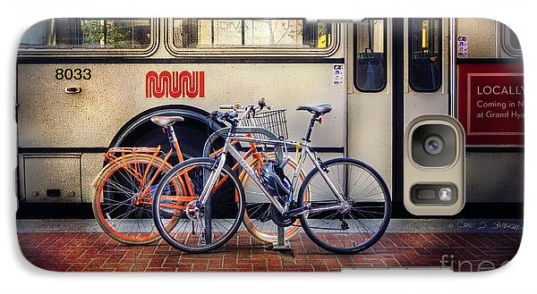 Galaxy Case featuring the photograph Public Tier Bicycles by Craig J Satterlee