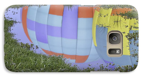 Galaxy Case featuring the photograph Puddle Reflections by Linda Geiger