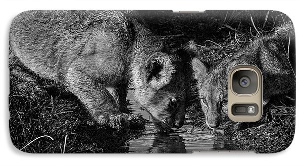Galaxy Case featuring the photograph Puddle Time by Karen Lewis