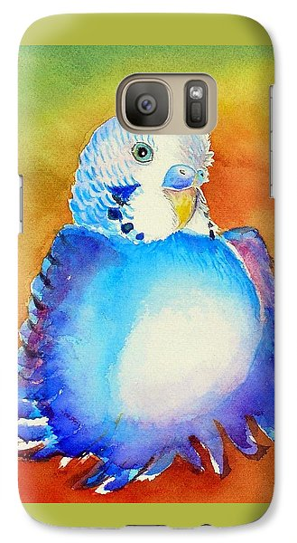 Galaxy Case featuring the painting Pudgy Budgie by Patricia Piffath