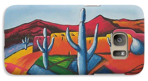 Galaxy Case featuring the painting Pueblo by Antonio Romero