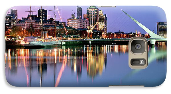 Galaxy Case featuring the photograph Puerto Madero I by Bernardo Galmarini