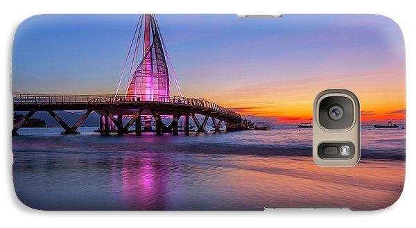 Galaxy Case featuring the photograph Puesta De Sol En La Playa De Los Murtos by Edward Kreis