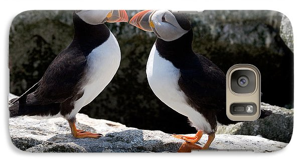 Galaxy Case featuring the photograph Puffin Love by Brent L Ander