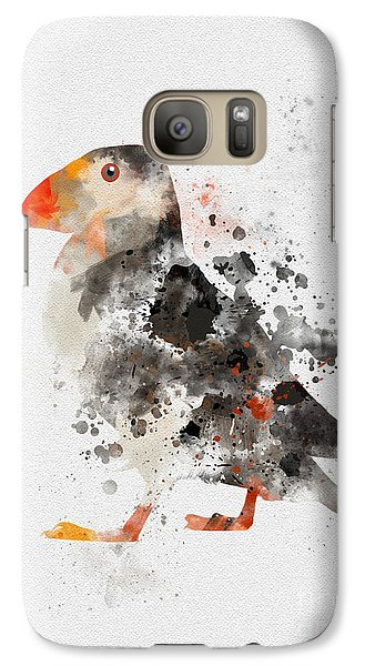 Puffin Galaxy S7 Case - Puffin by Rebecca Jenkins