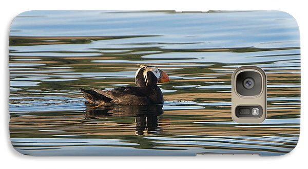 Puffin Reflected Galaxy S7 Case by Mike Dawson