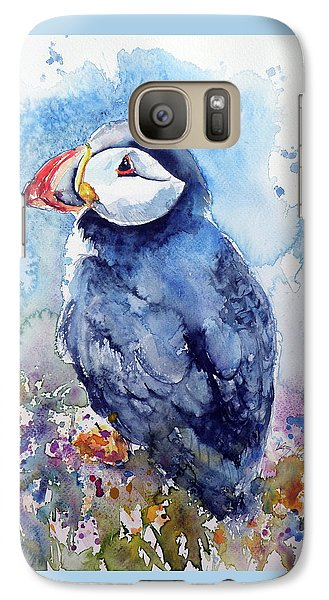 Puffin With Flowers Galaxy S7 Case