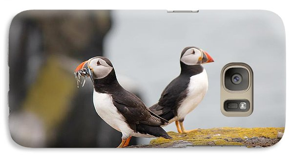 Galaxy Case featuring the photograph Puffin's by David Grant