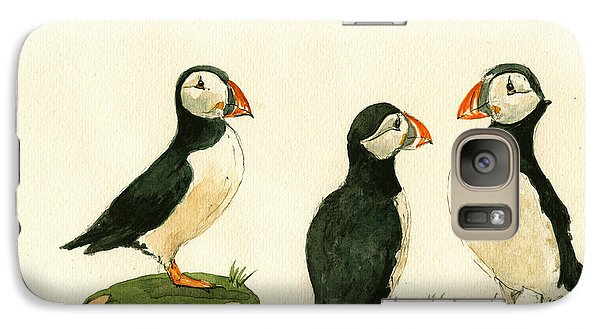 Puffin Galaxy S7 Case - Puffins by Juan  Bosco