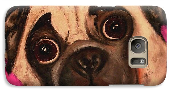 Galaxy Case featuring the painting Pug - Chloe by Laura  Grisham