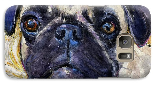 Galaxy Case featuring the painting Pug Mug by Molly Poole