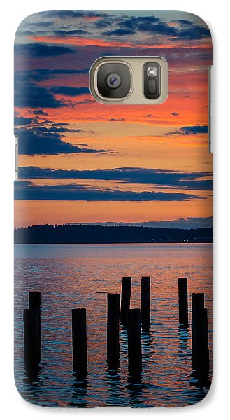 Puget Sound Sunset Galaxy S7 Case