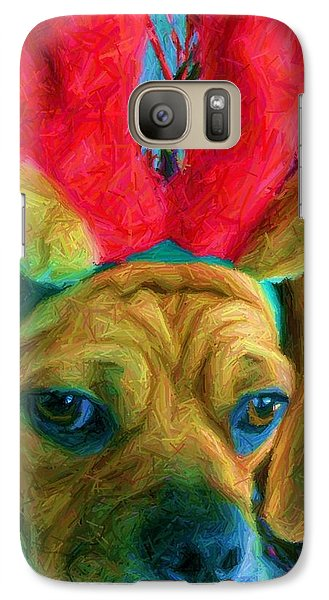 Galaxy Case featuring the photograph Puggle Holiday by Susan Carella