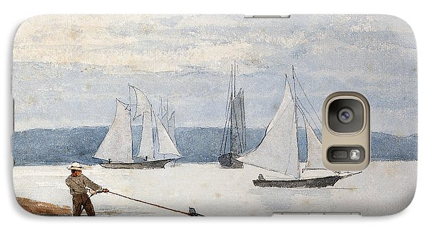 Boat Galaxy S7 Case - Pulling The Dory by Winslow Homer