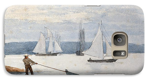 Pulling The Dory Galaxy S7 Case by Winslow Homer