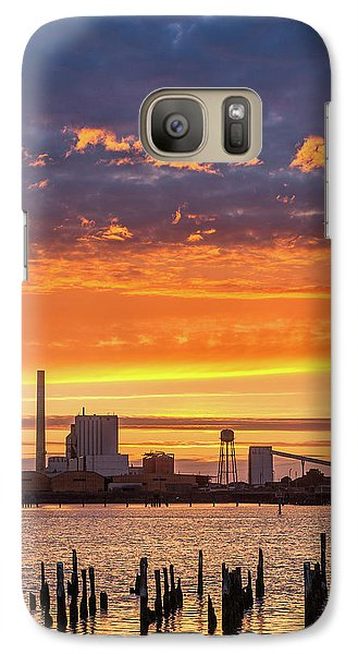 Galaxy Case featuring the photograph Pulp Mill Sunset by Greg Nyquist