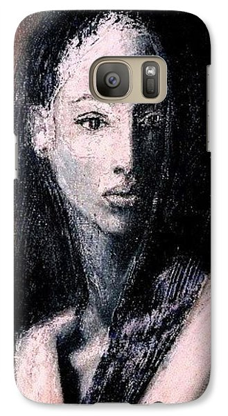 Galaxy Case featuring the painting Pulsar by Jarmo Korhonen aka Jarko
