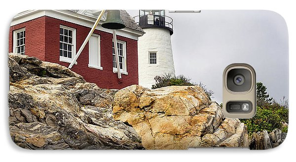 Galaxy Case featuring the photograph Pumphouse And Tower, Pemaquid Light, Bristol, Maine  -18958 by John Bald