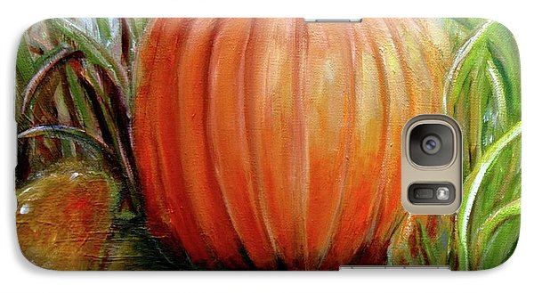 Galaxy Case featuring the painting Pumpkin Patch  by Bernadette Krupa