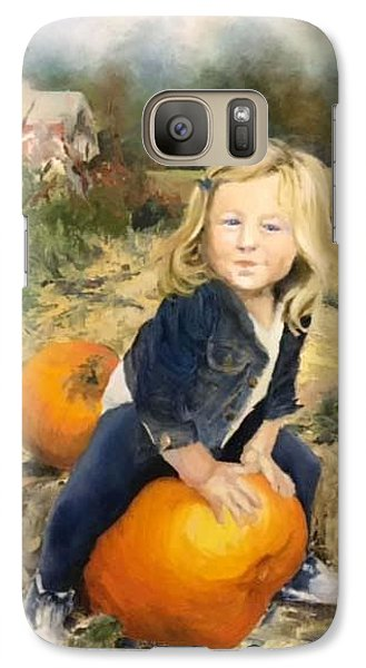 Galaxy Case featuring the painting Pumpkin Patch by Lori Ippolito