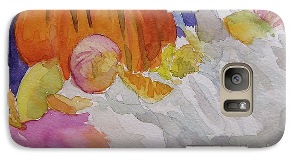 Galaxy Case featuring the painting Pumpkin Still Life by Beverley Harper Tinsley
