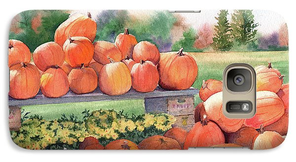 Galaxy Case featuring the painting Pumpkins For Sale by Vikki Bouffard