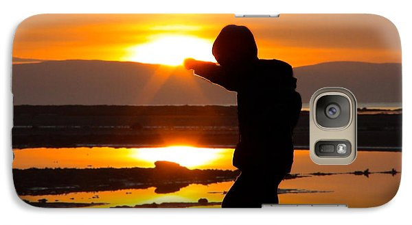 Galaxy Case featuring the photograph Punching The Sun by RKAB Works