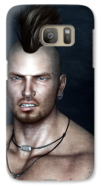 Galaxy Case featuring the painting Punk Portrait by Maynard Ellis