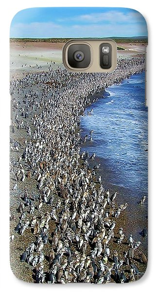 Galaxy Case featuring the photograph Punta Tombo Megellan Penguins by Michele Penner