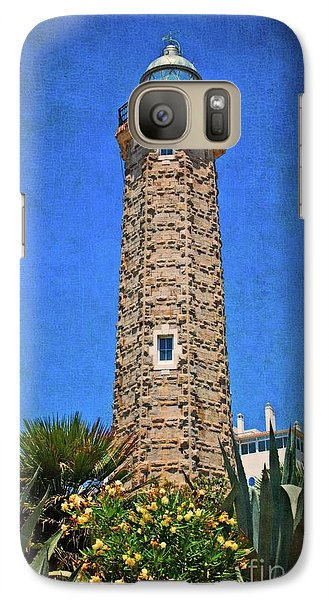 Galaxy Case featuring the photograph Punto Doncela Lighthouse by Mary Machare