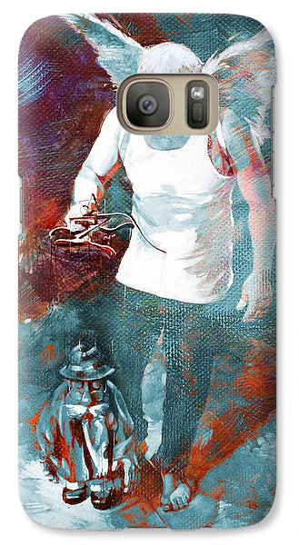 Galaxy Case featuring the painting Puppet Man 003 by Gull G
