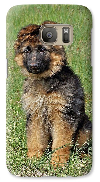 Galaxy Case featuring the photograph Puppy Halo by Sandy Keeton