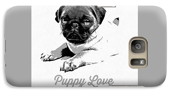 Puppy Love Galaxy Case by Edward Fielding