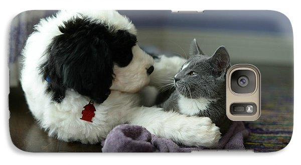 Galaxy Case featuring the photograph Puppy Love by Linda Mishler