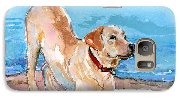 Galaxy Case featuring the painting Puppy Pose by Molly Poole