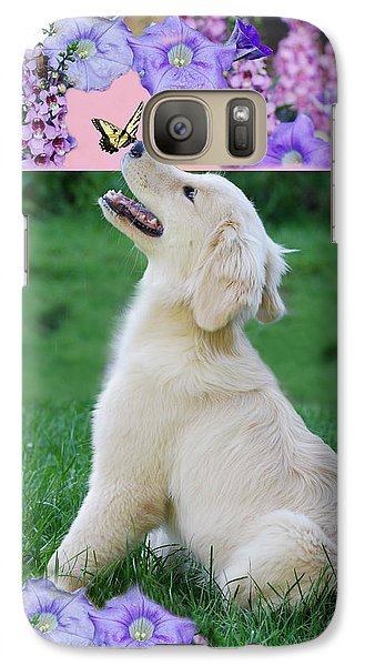 Galaxy Case featuring the photograph Puppy's World by Lila Fisher-Wenzel