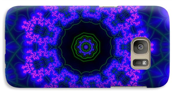 Galaxy Case featuring the digital art Purple 9 Lightmandala by Robert Thalmeier