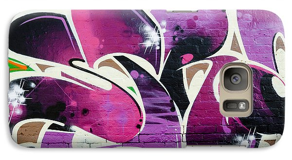 Galaxy Case featuring the painting Purple Abstract Graffiti by Yurix Sardinelly