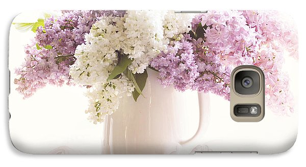 Galaxy Case featuring the photograph Purple And White Lilacs Still Life by Sylvia Cook