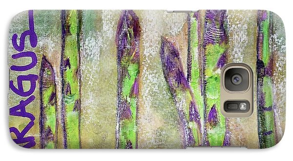 Galaxy Case featuring the painting Purple Asparagus by Kim Nelson
