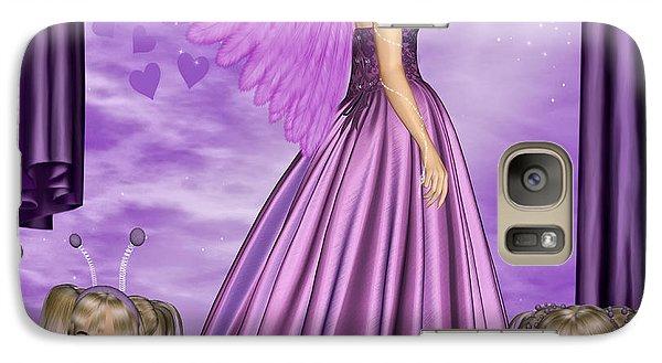 Galaxy Case featuring the digital art Purple Awareness by Digital Art Cafe