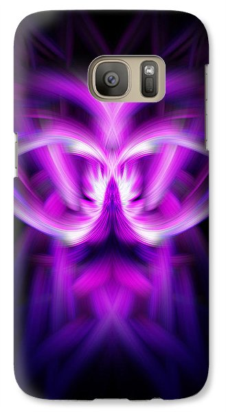 Galaxy Case featuring the photograph Purple Bug by Cherie Duran