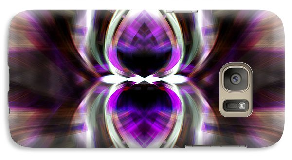 Galaxy Case featuring the photograph Purple Butterfly by Cherie Duran