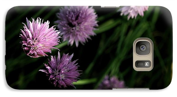 Galaxy Case featuring the photograph Purple Chives by Angela Rath