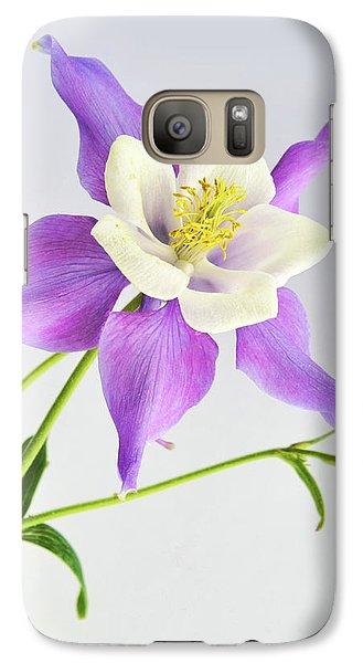 Galaxy Case featuring the photograph  Purple Columbine by Ann Bridges