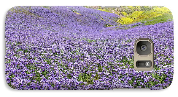 Galaxy Case featuring the photograph Purple  Covered Hillside by Marc Crumpler