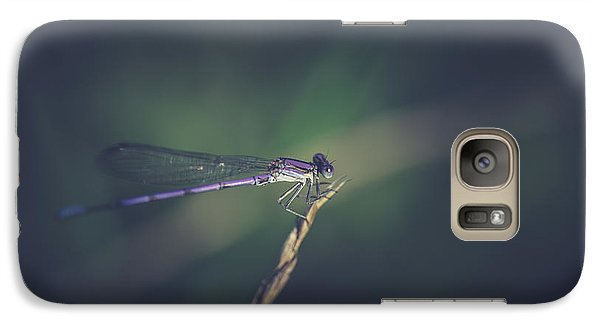 Galaxy Case featuring the photograph Purple Damsel by Shane Holsclaw