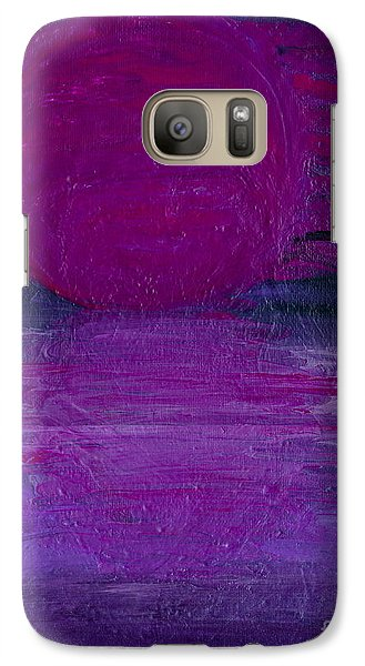 Galaxy Case featuring the painting Purple Dawn by Ania M Milo