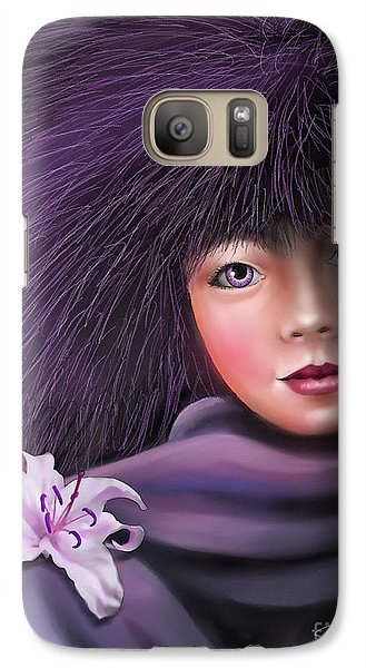 Galaxy Case featuring the painting Purple Delight by S G